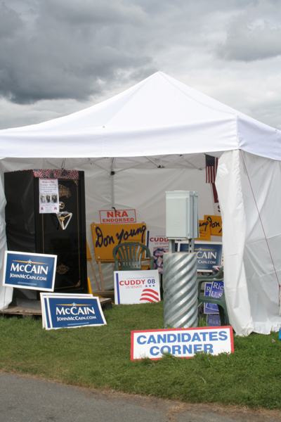 Last week - prescient black cloud appears over Republican booth at the State Fair