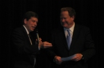 Anchorage Mayor and U.S. Senate candidat Mark Begich maked a surprise appearance.