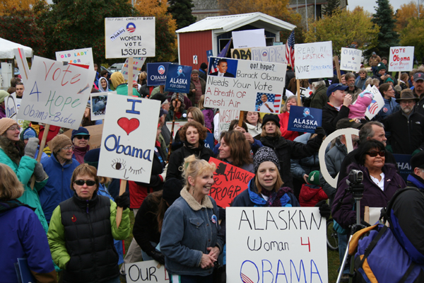 Obama rally in Anchorage Oct. 4 2008