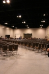Palin Rally - chairs, chairs, chairs...