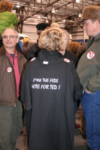 An image from the inspirational Welcome Home Ted rally.